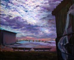 Sunset at the Barnyard