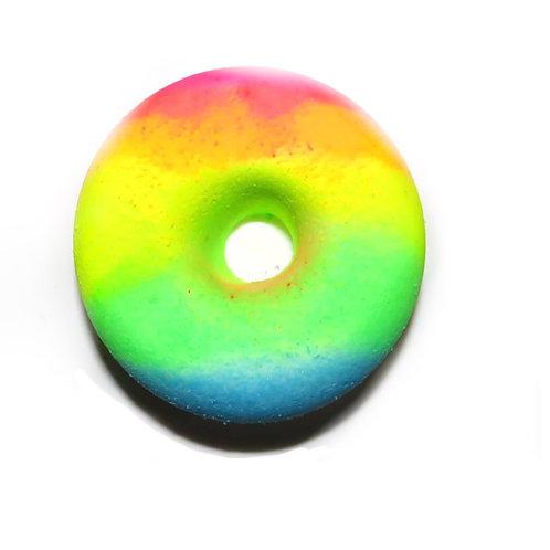 Sprayed Neon Marshmellow & Candfloss Donut Bath Bubbler