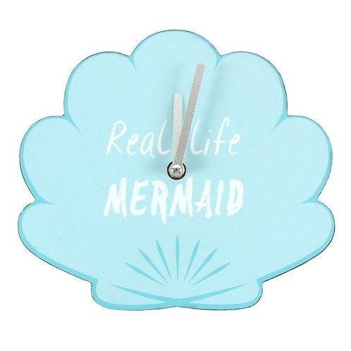Real Life Mermaid Shell Clock