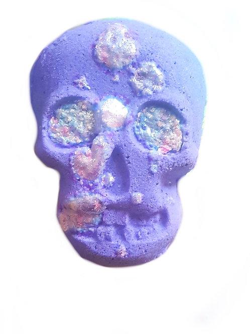 Purple Rain Cocktail Skull Bath Bubbler