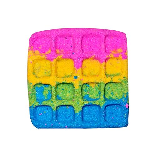 Marshmellow & Candfloss Rainbow Waffle Bath Bubbler