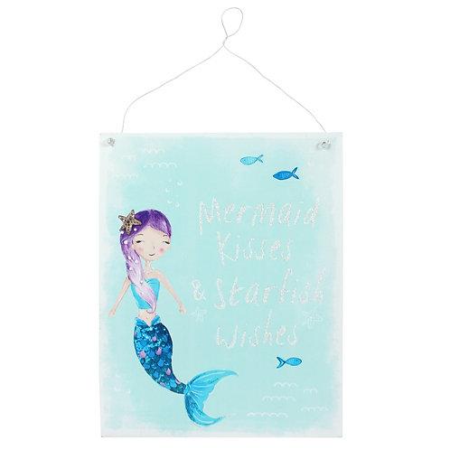 Mermaid Kisses Metal Wall Plaque