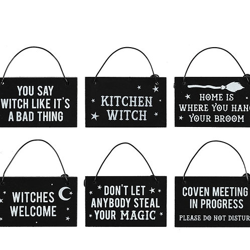 Witchy House Signs
