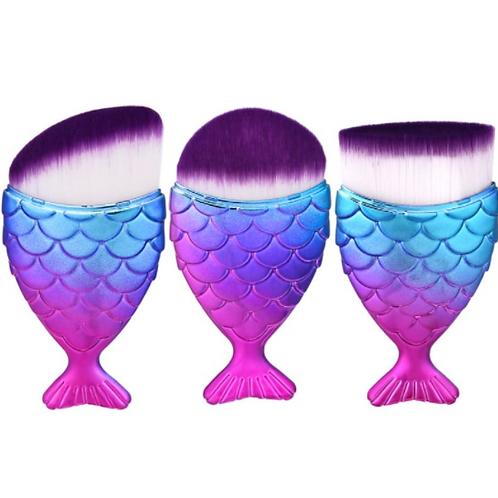 3 Piece Unicorn Fish Style Brush Set