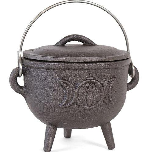 11CM Cast Iron Cauldron With Tripple Moon
