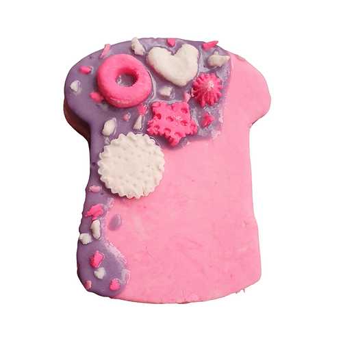 Large Fizzy Pink Champagne Loaded Slice Bubble Block