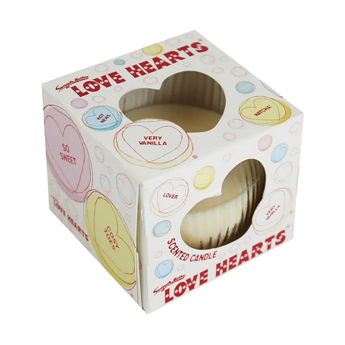 Swizzles Love Hearts Glass Candle