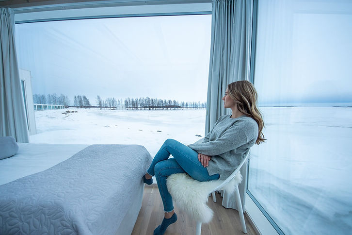 Winter view from Seaside Glass Villas (1