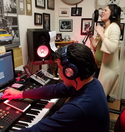 Recording in Roos Studio