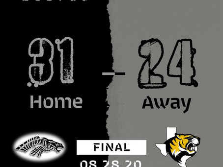 Week 1 Overtime Win for the Zebras!