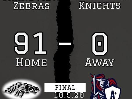 Zebras Dominant versus Knights