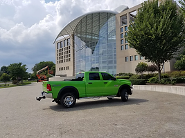 large green truck
