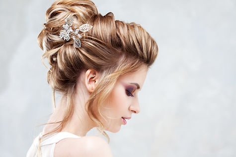 Wedding style. Beautiful young bride wit