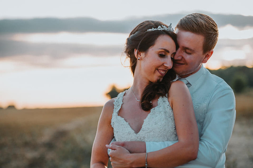 Wedding couple at Little Easton Manor
