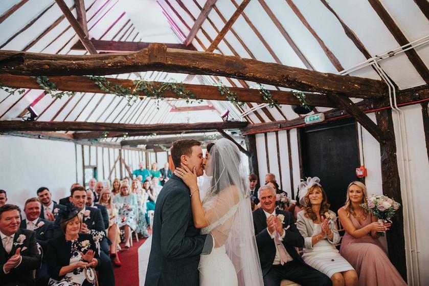 Wedding Ceremony in Rafters Barn at Litt