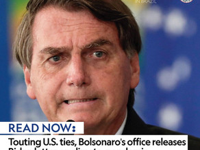 Touting U.S. ties, Bolsonaro's office releases Biden letter on climate, pandemic