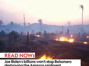 Joe Biden's billions won't stop Bolsonaro destroying the Amazon rainforest