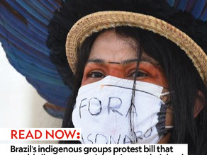 Brazil's indigenous groups protest bill that would allow commercial mining on their land