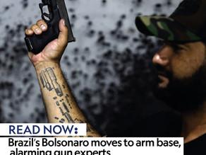 Brazil's Bolsonaro moves to arm base, alarming gun experts
