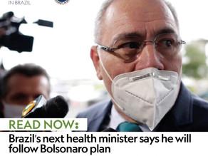 Brazil's next health minister says he will follow Bolsonaro plan