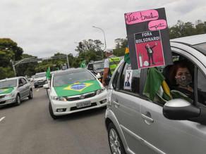 Motorcade rallies call for impeachment of Bolsonaro in Brazil