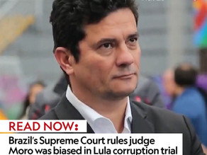 Brazil's Supreme Court rules judge Moro was biased in Lula corruption trial