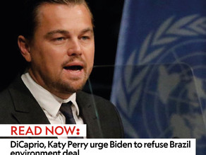 DiCaprio, Katy Perry urge Biden to refuse Brazil environment deal