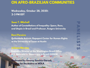 Joint Webinar: Bolsonaro and Trump's Alcântara Deal and its Impact on Afro-Brazilian Communities