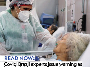 Covid-19: Brazil experts issue warning as hospitals 'close to collapse'