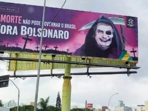 Battle of billboards rages between Jair Bolsonaro's foes and followers
