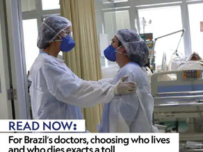 For Brazil's doctors, choosing who lives and who dies exacts a toll