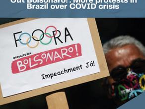 'Out Bolsonaro!': More protests in Brazil over COVID crisis