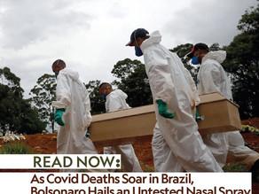 As Covid Deaths Soar in Brazil, Bolsonaro Hails an Untested Nasal Spray