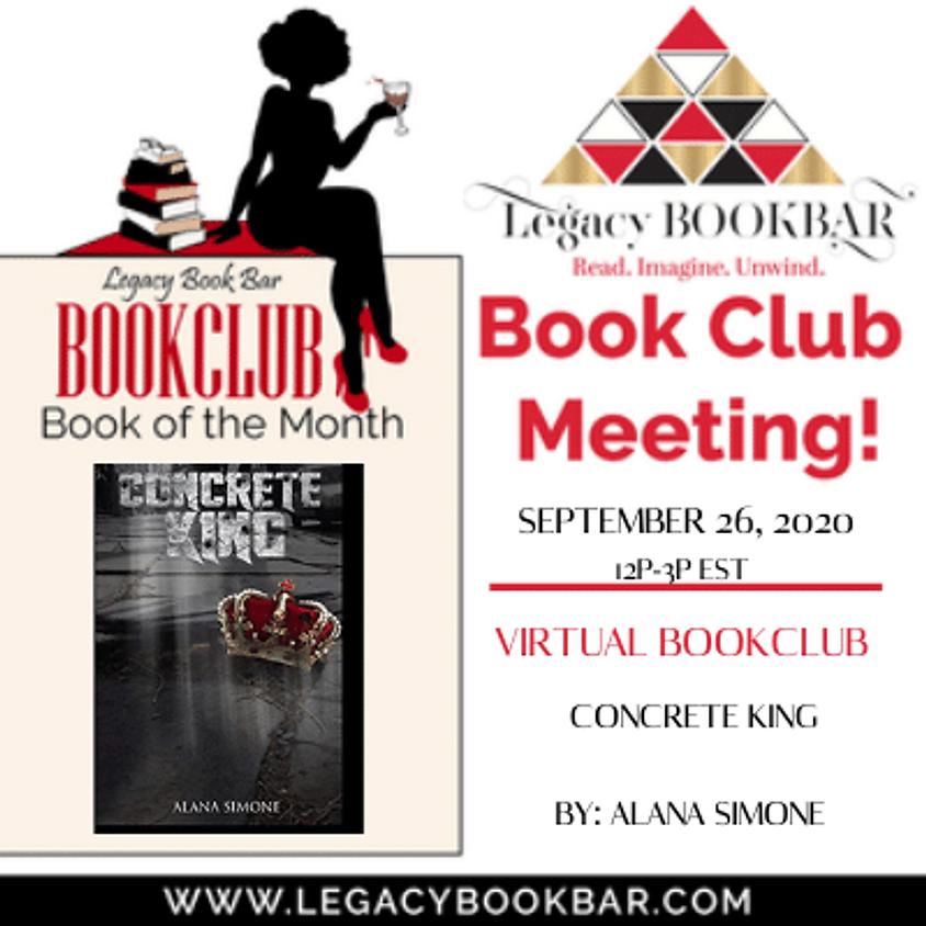 Legacy BookBar September Online Book Club Meeting