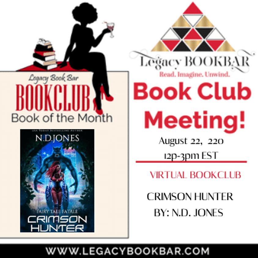 Legacy BookBar August Online Book Club Meeting