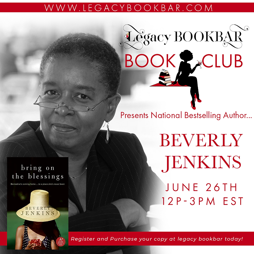 Legacybook Book Club Presents: National Bestselling Author Beverly Jenkins!