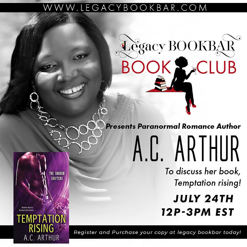 Legacybook Book Club Presents: Paranormal Author A.C. Arthur!