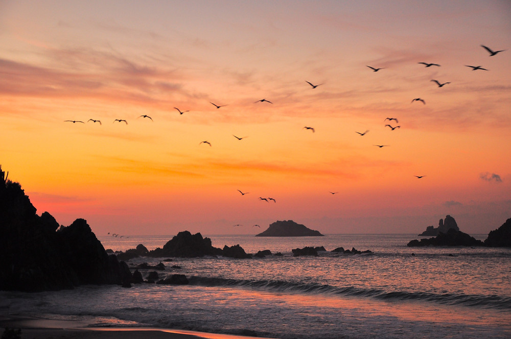 Ixtapa beach sunset