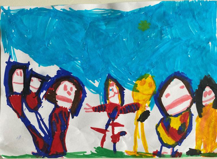 Il disegno di Giovanni di San Martino di Venezze (Ro) - 4 anni