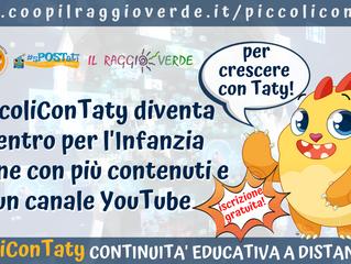PiccoliConTaty: da blog a Centro per l'Infanzia online con più contenuti e un canale per le dirette