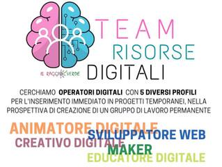 Aperta la call di candidatura al Team Risorse Digitali de Il Raggio Verde