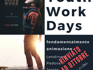 Rinviato a ottobre l'appuntamento con gli Youth Work Days