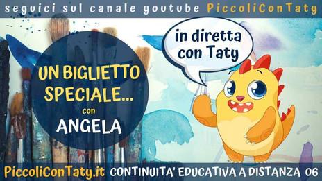 Un biglietto speciale... con Angela