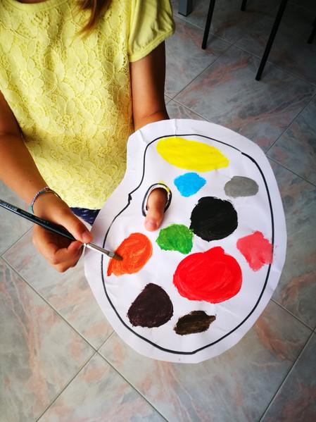 La tavolozza di inglese a colori realizz