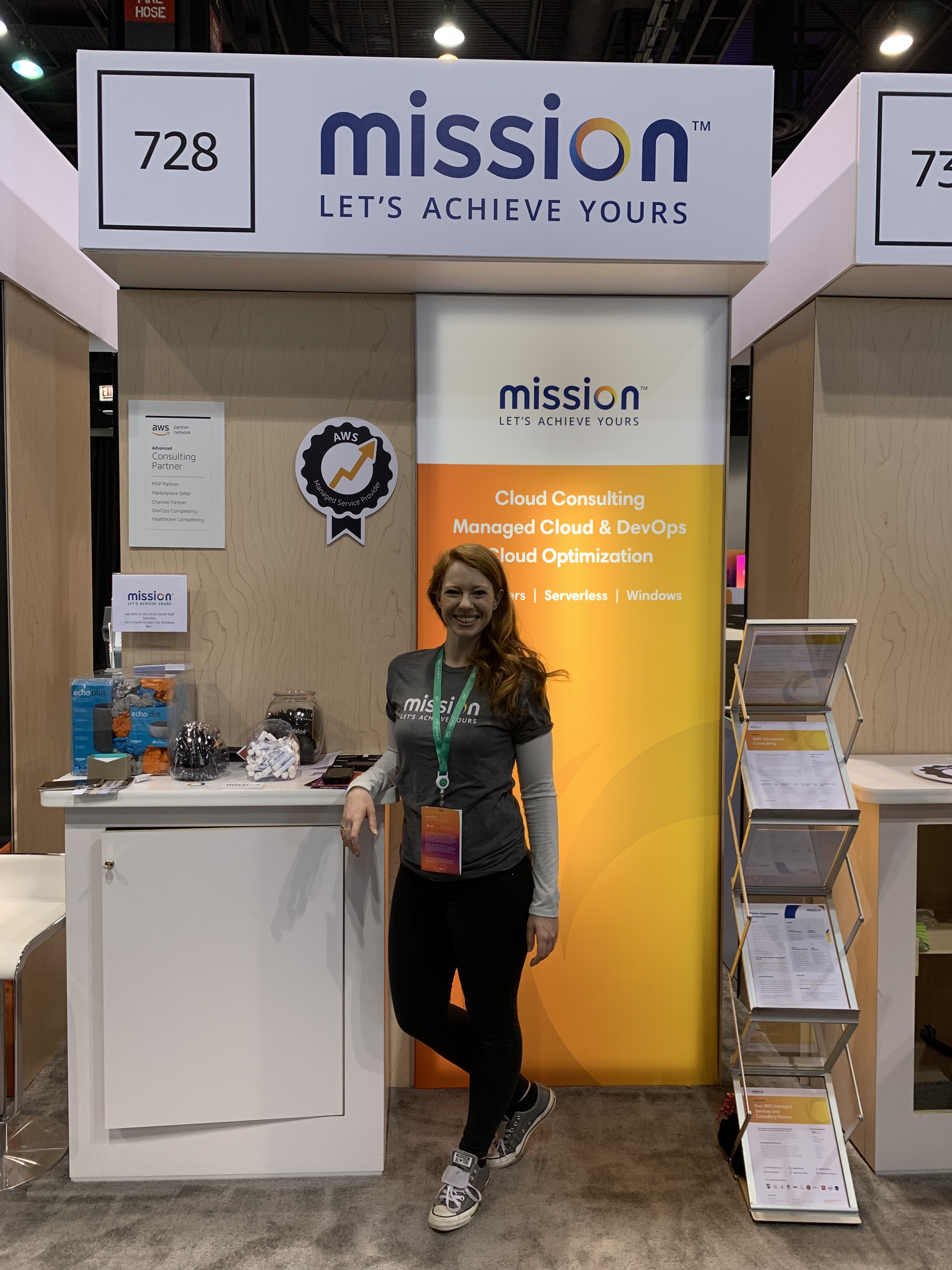 Booth Hostess at AWS for Mission Cloud