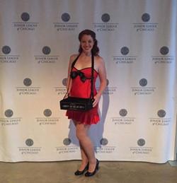 Costumed model for MadMen event