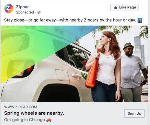 Zipcar Social Media Ad