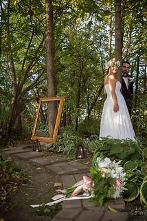 marchons dans les bois Virginie & Jonathan les mariés © niesim