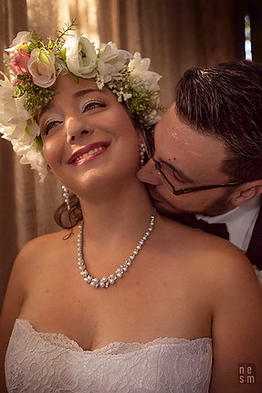 Jonathan & Virginie mariage 3 ans Coquetteries Fleuries © niesim- Annie Simard