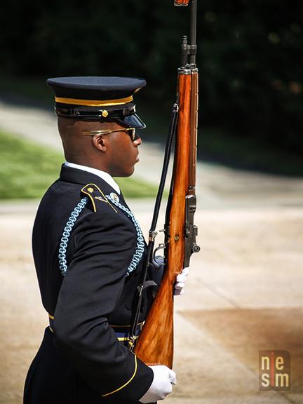 Changement de la garde au Cimetière National Militaire d'Arlington, Washington DC, États-Unis © niesim